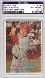 Solly Hemus Autographed 1957 Topps Card #231 Philadelphia Phillies PSA/DNA #83313005