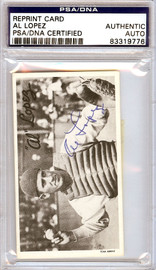 Al Lopez Autographed TCMA Reprint Card Pittsburgh Pirates PSA/DNA #83319776