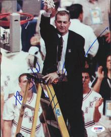Jim Calhoun Autographed 8x10 Photo UConn Huskies PSA/DNA #S40056