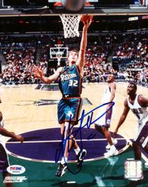 Christian Laettner Autographed 8x10 Photo Detroit Pistons PSA/DNA #S40694