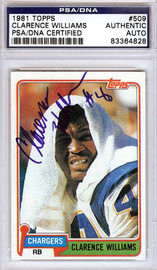 Clarence Williams Autographed 1981 Topps Card #509 San Diego Chargers PSA/DNA #83364828