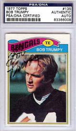 Bob Trumpy Autographed 1977 Topps Card #135 Cincinnati Bengals PSA/DNA #83366008