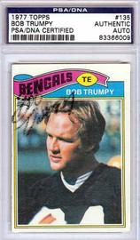 Bob Trumpy Autographed 1977 Topps Card #135 Cincinnati Bengals PSA/DNA #83366009