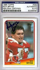 Rick Bryan Autographed 1988 Topps Card #392 Atlanta Falcons PSA/DNA #83369487