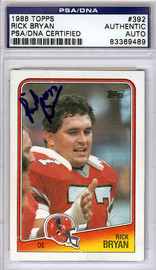 Rick Bryan Autographed 1988 Topps Card #392 Atlanta Falcons PSA/DNA #83369489