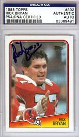 Rick Bryan Autographed 1988 Topps Card #392 Atlanta Falcons PSA/DNA #83369491