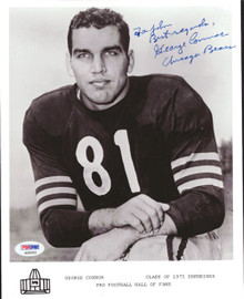 George Connor Autographed 8x10 Photo Chicago Bears PSA/DNA #S28563