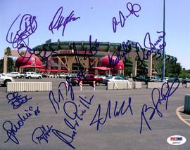 2005 Anaheim Angels Autographed 8x10 Photo With 14 Total Signatures Including Mike Scioscia, Bengie Molina, Juna Rivera PSA/DNA #Q06610