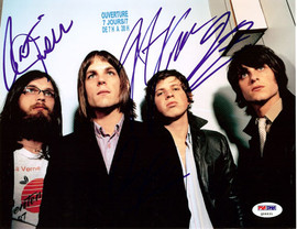 Kings of Leon Autographed 8x10 Photo Caleb Followill, Mathew Followill, Jared Followill & Nathan Followill PSA/DNA #Q06631
