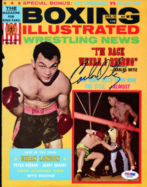 Carlos Ortiz Autographed Boxing Illustrated Magazine Cover PSA/DNA #S42987
