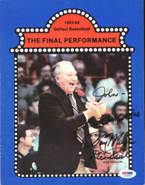 """Ray Meyer Autographed Magazine Page Photo DePaul Blue Demons """"To John"""" PSA/DNA #S43829"""