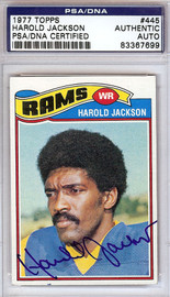 Harold Jackson Autographed 1977 Topps Card #445 Los Angeles Rams PSA/DNA #83367699