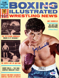 Joey Giardello Autographed Boxing Illustrated Magazine Cover PSA/DNA #S47129