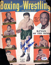 Joey Maxim Autographed Boxing & Wrestling Magazine Cover PSA/DNA #S47174