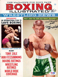 Tom McNeeley Autographed Boxing Illustrated Magazine Cover PSA/DNA #S47198