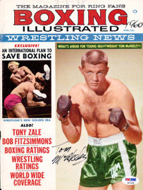 Tom McNeeley Autographed Boxing Illustrated Magazine Cover PSA/DNA #S47199