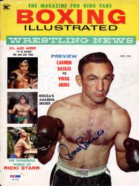 Carmen Basilio Autographed Boxing Illustrated Magazine Cover PSA/DNA #S47308
