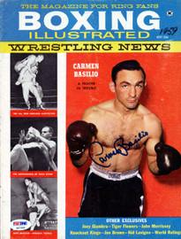 Carmen Basilio Autographed Boxing Illustrated Magazine Cover PSA/DNA #S47309