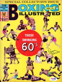 Carmen Basilio Autographed Boxing Illustrated Magazine Cover PSA/DNA #S47314