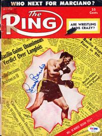 Carmen Basilio Autographed The Ring Magazine Cover PSA/DNA #S47317