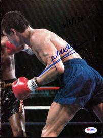 Alexis Arguello Autographed Magazine Page Photo PSA/DNA #S47443