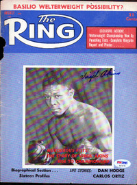 Virgil Akins Autographed The Ring Magazine Cover PSA/DNA #S47470