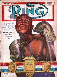 """Jimmy Carter Autographed The Ring Magazine Cover """"To John"""" PSA/DNA #S47499"""
