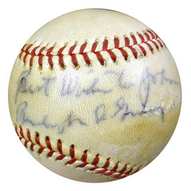 """Burleigh Grimes Autographed Official NL Baseball Brooklyn Dodgers, St. Louis Cardinals """"To John, Best Wishes"""" PSA/DNA #S75256"""
