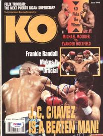 Julio Cesar Chavez Autographed KO Boxing Magazine Cover PSA/DNA #S42099