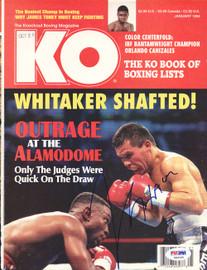 Julio Cesar Chavez Autographed KO Boxing Magazine Cover PSA/DNA #S42100