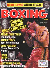 Julio Cesar Chavez Autographed Boxing Scene Magazine Cover PSA/DNA #S42111