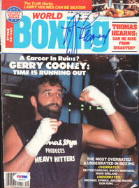 Gerry Cooney Autographed Boxing World Magazine Cover PSA/DNA #S42130