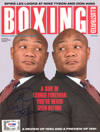 George Foreman Autographed Boxing Illustrated Magazine Cover PSA/DNA #S42328