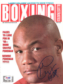 George Foreman Autographed Boxing Illustrated Magazine Cover PSA/DNA #S42329