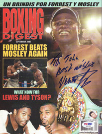 """Vernon Forrest Autographed Boxing Digest Magazine Cover """"To John"""" PSA/DNA #S42356"""