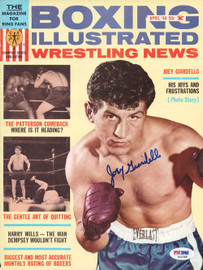 Joey Giardello Autographed Boxing Illustrated Magazine Cover PSA/DNA #S42388