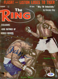 Archie Moore Autographed The Ring Magazine Cover PSA/DNA #S48442