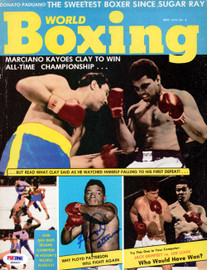 Floyd Patterson Autographed Boxing World Magazine Cover PSA/DNA #S48457