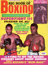 Joe Frazier Autographed Big Book Of Boxing Magazine Cover PSA/DNA #S48462