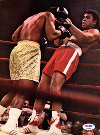 Joe Frazier Autographed Magazine Page Photo PSA/DNA #S48468