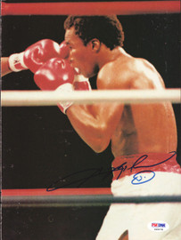 Sugar Ray Leonard Autographed Magazine Page Photo PSA/DNA #S49278