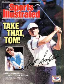 Scott Simpson Autographed Magazine Cover PSA/DNA #T43526