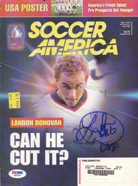Landon Donovan Autographed Magazine Cover USA PSA/DNA #Q89383
