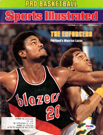 Maurice Lucas & Dennis Johnson Autographed Sports Illustrated Magazine Cover PSA/DNA #S64994