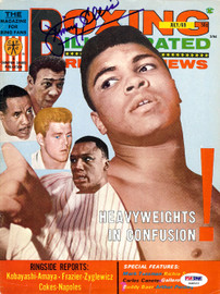 Jimmy Ellis Autographed Boxing Illustrated Magazine Cover PSA/DNA #S48522
