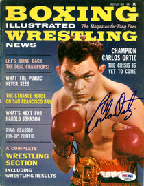 Carlos Ortiz Autographed Boxing Illustrated Magazine Cover PSA/DNA #S48538
