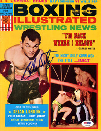 Carlos Ortiz Autographed Boxing Illustrated Magazine Cover PSA/DNA #S48542