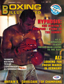 Ken Norton Autographed Boxing Illustrated Magazine Cover PSA/DNA #S48552