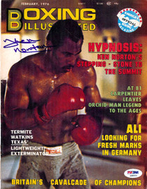 Ken Norton Autographed Boxing Illustrated Magazine Cover PSA/DNA #S48553