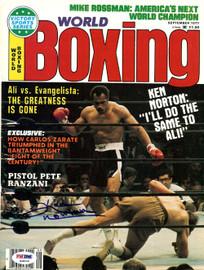 Ken Norton Autographed Boxing World Magazine Cover PSA/DNA #S48556